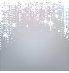 Silver starry christmas background vector image