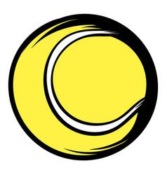 tennis ball icon cartoon vector image vector image