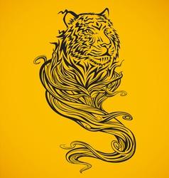 Tiger Spirit Dark vector image