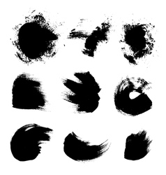 Abstract strokes of different free form brush vector image vector image