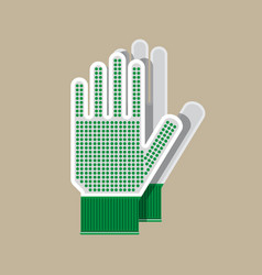 cloth gloves gloves for gardening and garden vector image vector image