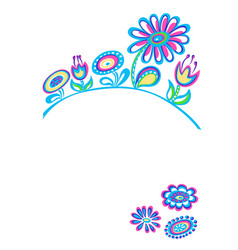 drawing decorative flowers white background vector image vector image