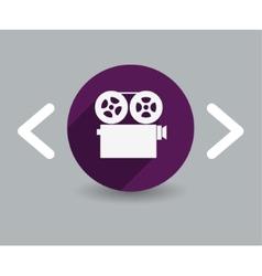 film icon vector image vector image
