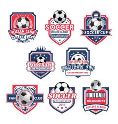 icons for soccer club football team league vector image vector image