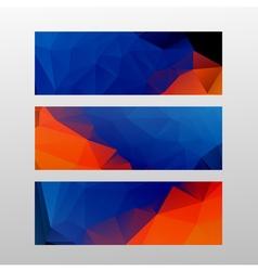 red blue flyer set vector image