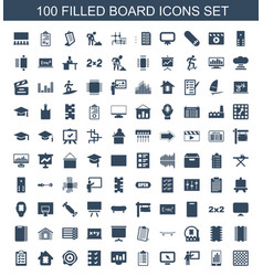 100 board icons vector image