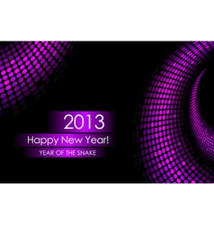 2013 purple snake card vector