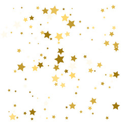 abstract background with many falling gold stars vector image