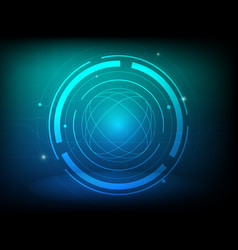 abstract blue green circle digital technology vector image