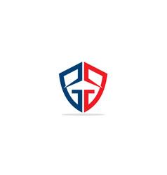 Abstract logo shield g text vector
