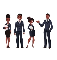 African American businessmen and businesswomen vector
