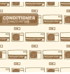 Air conditioner seamless pattern vector image