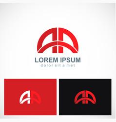 Arch gate round logo vector