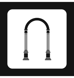 Arch with classic design icon simple style vector