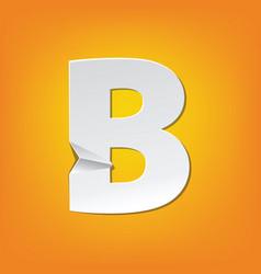 B capital letter fold english alphabet new design vector