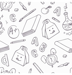 Back to school doodle objects Hand drawn school vector