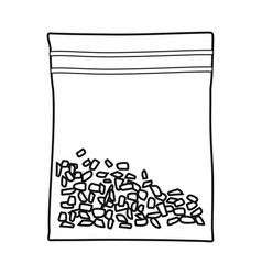 Bag and marijuana logo web vector