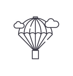 balloon line icon concept balloon linear vector image