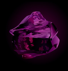 Beautiful violet obsidian vector