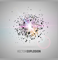 big bang isolated abstract vector image