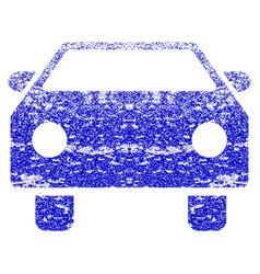 Car grunge textured icon vector