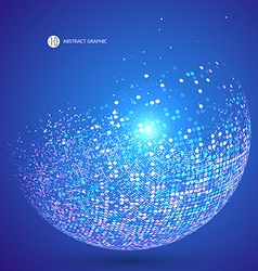 Colorful dots abstract sphere science and vector image