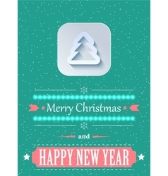 Concept Christmas background with flares vector image vector image