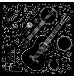 country music cowboy western festival illus vector image