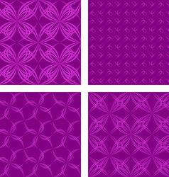 Dark magenta seamless pattern background set vector