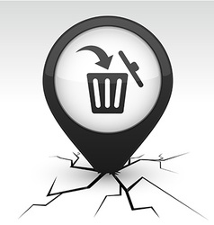 Delete black icon in crack vector