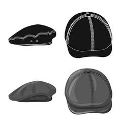 Design of headgear and cap logo set of vector