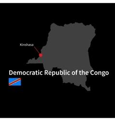 Detailed map democratic republic congo vector