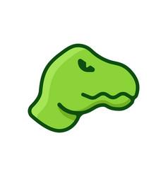Dinosaur flat logo vector