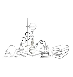 Doodle Chemical Laboratory vector image