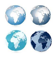 Earth world globe map icons vector