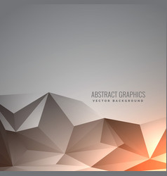 Elegant abstract gray low poly background in vector