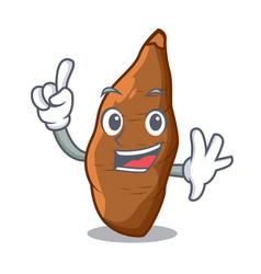 Finger fresh cassava isolated on the mascot vector