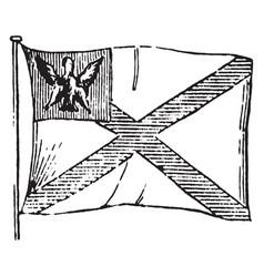 Flag of poland 1881 vintage vector