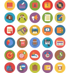 FLAT BUSINESS iCONS AND WEB ICONS SET vector image