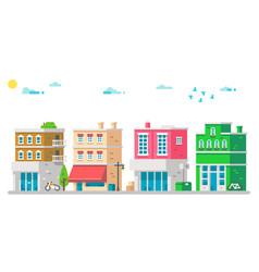 flat design facades urban vector image