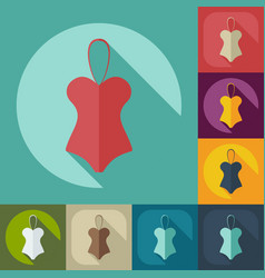 Flat modern design with shadow icon swimsuit vector