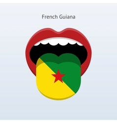 French Guiana language Abstract human tongue vector