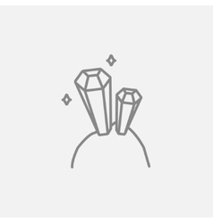 Gemstones line icon vector image