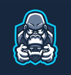 gorilla games e sport joystick logo icon vector image