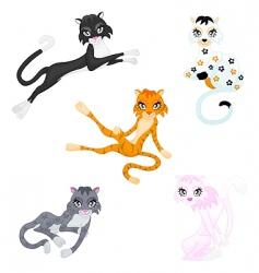 Graceful cats vector