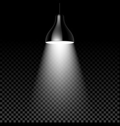 hanging lamp on black transparent background vector image
