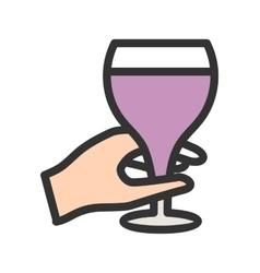 Holding Wine Goblet vector