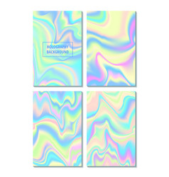 hologram gradient set of four backgrounds vector image