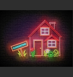 house red roand flowerbed and inscription vector image