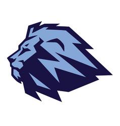 lion mascot logo design vector image